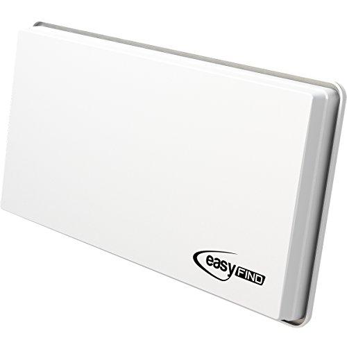 EasyFind H30 D2+ SAT Flachantenne für zwei Teilnehmer (inkl. Fensterhalterung, Wandhalterung, Masthalterung und Standfuß)