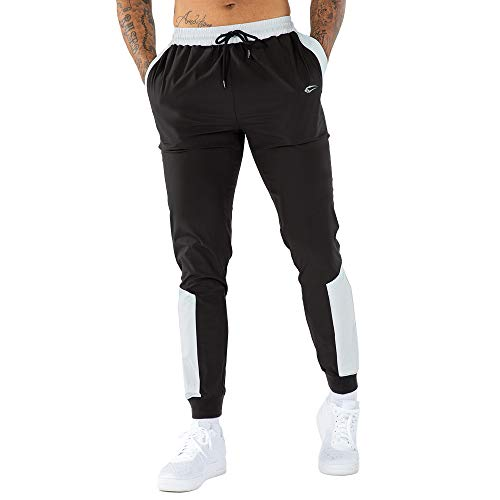 SMILODOX Herren Jogginghose Urbanice Full Zip | Trainingshose für Sport Fitness Gym Training & Freizeit | Sporthose - Jogger Pants - Sweatpants Hosen - Freizeithose Lang, Größe:S, Farbe:Mint