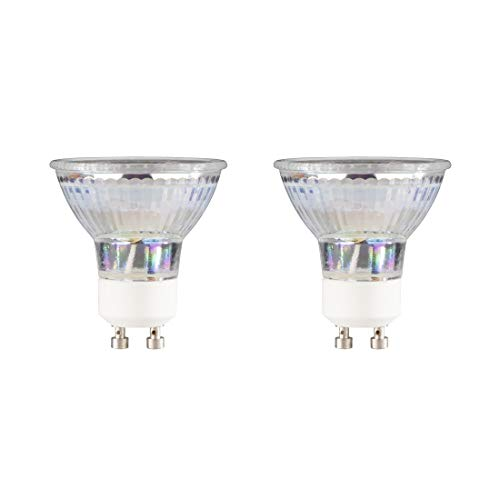Xavax GU10 LED Lampe 2er-Pack (4,5W ersetzt 50W, 350 Lumen, Warmweiß (3000 K), Energieeffizienz A+) Doppelpack