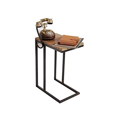 XLEVE Mesa de Hierro Forjado Plazoleta Tabla Sofá Lado de la habitación del Escritorio del Ordenador Mesa Lateral