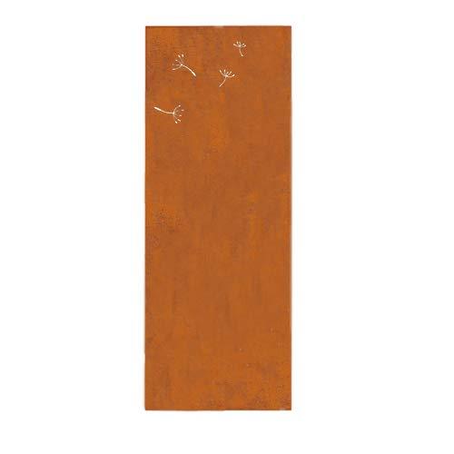 prima terra Deko- und Sichtschutzelement Edelrost Pusteblume Erweiterung H=158cm B=60cm