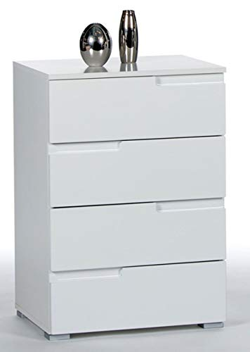 Stella Trading Spice Kommode, Holzdekor, Weiß, ca. 50 x 80 x 40 cm