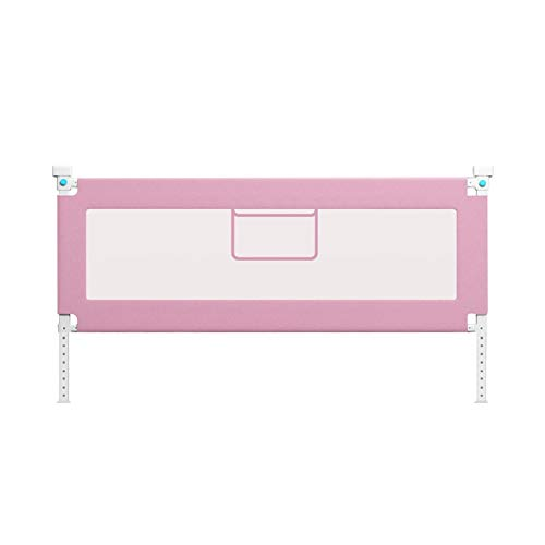 Extra lang bed Rail Guard, for peuters Vertical Lift bed rails, hoogteverstelling (72-92cm), for peuters, jongens, meisjes |Great Child Safety Product (Color : Pink, Size : 2.0 m)