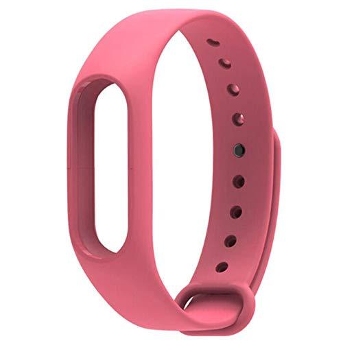 Para Mi Band 2 Correa Reemplazo Pulsera Para Xiaomi Band 2 Imprimir Silicona Pulsera Universal Colorido Reloj Impermeable Band-Pink