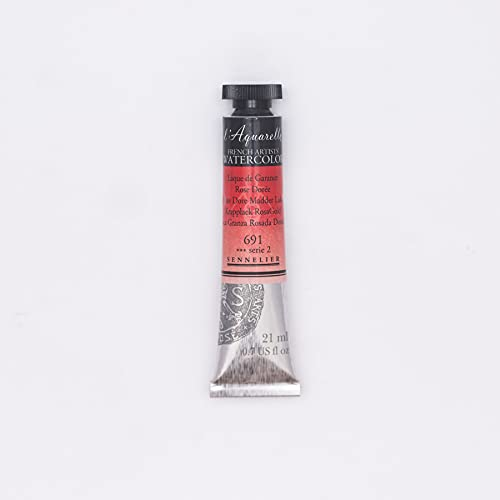 Sennelier French Artists' Watercolor, 21ml, Rose Dore Madder Lake S2