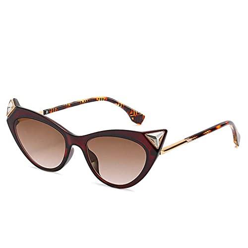 AMFG Pequeño marco Gafas de sol Personalidad europea y estadounidense Gafas de sol Gafas de sol Gafas de sol Diamante Femenino Gafas de sol Summer Sunscreen Viajes al aire libre (Color : E)