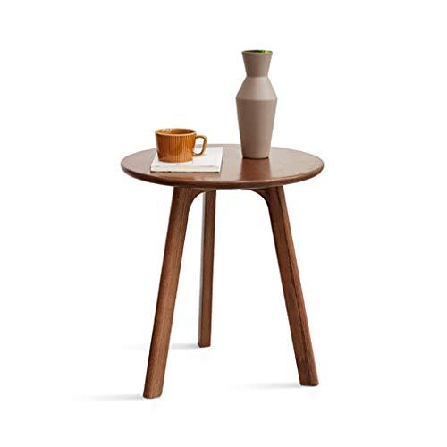 Einkaufstrolley Holz Couchtisch Kleine Wohnung Sofa Ecktisch Wohnzimmer Rundet Ecken Sofa Tisch Kleine Runde Tisch Runde Couchtisch Aufbewahrung & Organisation (Color : Brown, Size : 45 * 45 * 50 cm)
