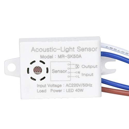 高感度光制御スイッチ省エネ5PC光電スイッチLEDシーリングライト用サウンドスイッチ