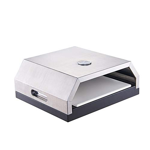 GRILIFE Outdoor Pizza Oven Grill Top Pizza Oven with Stone for Gas or Charcoal Grill Outdoor Ovens