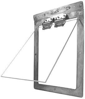 """Gun Dog House Door   Heavy Duty Dog Door   Chew Proof, Weather Tight, Energy Efficient   Metal Dog Door   Dog Size 20 - 120 Lbs   14""""x 20"""" Frame"""