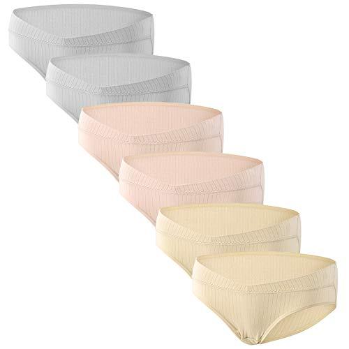 HBselect Unterhosen für Schwangere Umstandsmode Hösschen Damen Niedrig-Taille V-förmige Unterwäsche aus Baumwolle Schwangerschaft Postpartum Slip