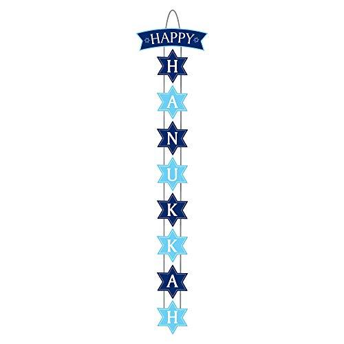 'Happy Hanukkah' Vertical Door Sign, 8.4' x 35.7' - 1 Pc.
