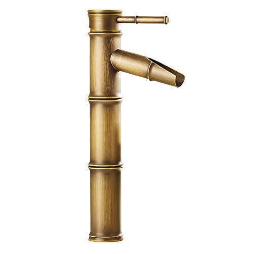 Retro cascata Bamboo design lavabo rubinetto miscelatore in ottone