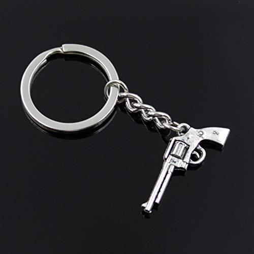 YCEOT Mode Männer 30Mm Keychain DIY Metallhalter Kette35x15mm Antik Silber Anhänger