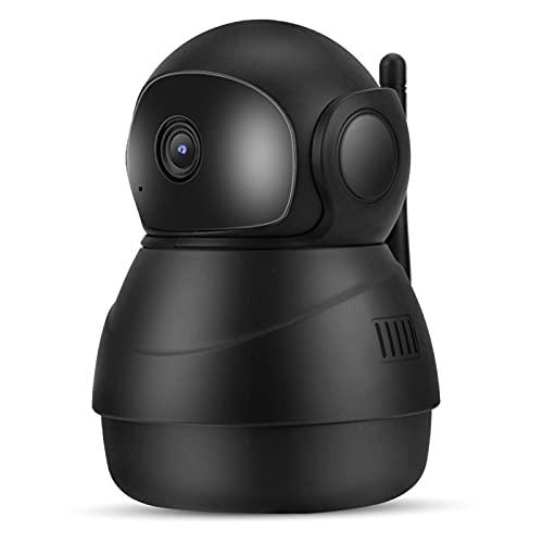 BabyCam Babycam, intercomunicador de 2 vías con intercomunicador WiFi de Color Negro, 6 LED IR 1080P, Babycam Interior Ajustable para 355 ° en Horizontal y 90 ° en Vertical(EU Plug)