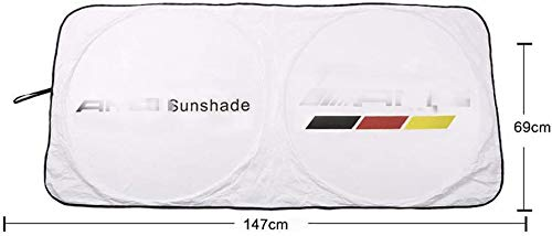 YIKA M Sports Modification Car Windshield Sun Shade with Teflon Coating,Better Shading Effect Than Silver Coated Cloth Blocks UV for for AMG GLK300 GLA C200L GLC CLA or Various Small car