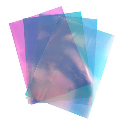 Supvox 4 Blatt A4 holographische Chrom Vinyl Opal schillernden Film Transferpapier für T-Shirt Handwerk Projekte Zeichen Plotter
