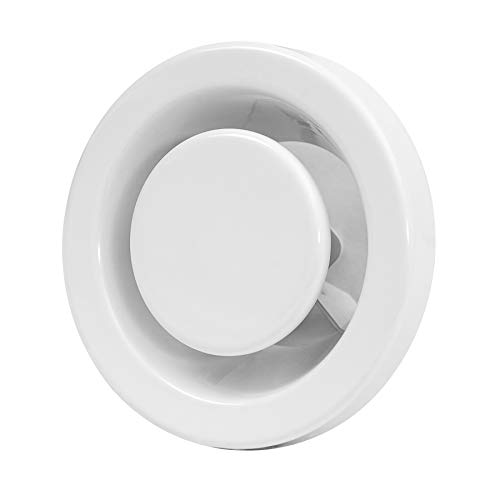 Válvula de salida de aire, 80 mm de diámetro, de chapa de acero, redonda, para tubo de 80 mm de diámetro, color blanco
