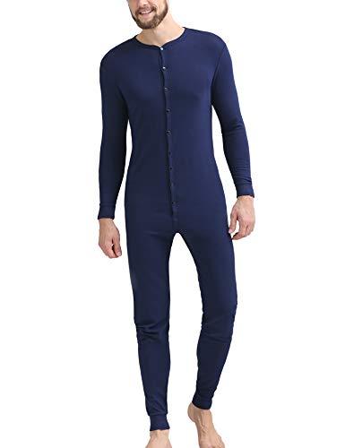 Tall Men/'s Cotton Union Suit One Piece Long Underwear XL Red