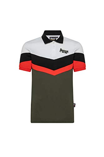 BOXEUR DES RUES - Army-Green Short-Sleeve Polo in Stretch Piqué, Man