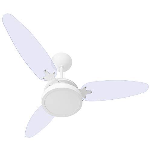Ventilador De Teto 3 Pás Wind Light Transparente Luminária Plafon Led 18w 127v