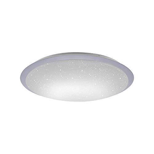 LED Deckenleuchte, IP 20, Ø59cm, dimmbar mit Fernbedienung, Deckenlampe, rund, Farbtemperatursteuerung, Sternenlicht