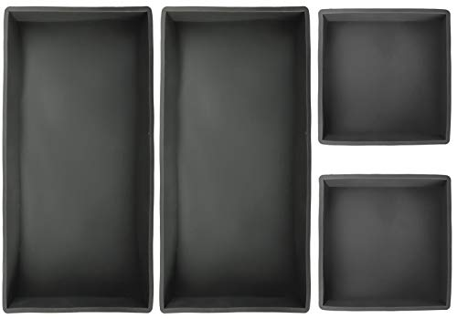 Lawei Set of 4 Silicone Baking Dividers – Silicone Baking Trays Non-Stick Baking Pan Baking Sheets for Meal Prep Oven Cooking