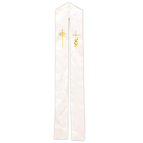 Clergy Stole- Wedding Stole for Ministers with Gold Embroidery by American Heritage Industries