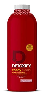 Detoxify Ready Clean Herbal Cleanse – 16 oz - Professionally Formulated Herbal Detox Drink - Enhanced with Milk Thistle Seed Extract & Burdock Root Extract