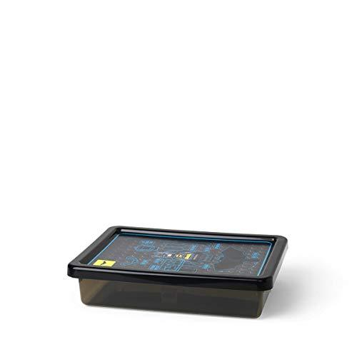 Boîte de rangement LEGO Batman, petite, 6 l, empilable, noir transparent
