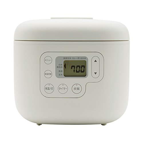 無印良品 しゃもじ置き付き炊飯器・3合 型番:MJ-RC3A2 82875706 ホワイト