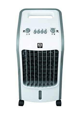 SHE Luftkühler SHE5AC2005 mit Luftreiniger und Luftbefeuchter (4,5 Liter Wassertank, Schwenkfunktion, 3 Geschwindigkeitsstufen kombinieren die Funktionen Kühlen und Ventilieren, 3 Windmodi), Weiß