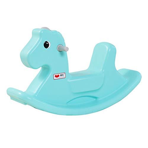 Lowest Price! Kibten Baby Rocking Horse Blue Plastic Riding Horse Infant Rocking Animal Kids Childre...