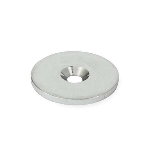 J.W. Winco 70-27-A-ST GN70 Magnet Holding Disk, Steel, Zinc Plated, 27 mm Outside Diameter, 6 mm Bore, 3 mm Thickness