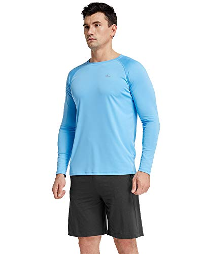 Men's Sun Protection UPF 50+ UV Outdoor Long Sleeve Performance Athletic Workout T-Shirt