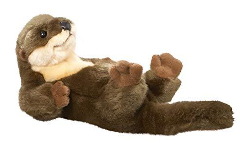 Carl Dick Otter liegend aus Plüsch ca. 22cm, 32cm mit Schwanz 1821001