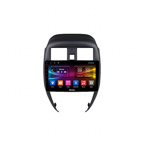para Nissan Soleado/Almera 2014-2018 Estruendo Bluetooth Auto Estéreo Audio Radio con GPS Navegación WiFi 9 '' Pantalla táctil Apoyo Espejo Enlace Direccion Rueda Control,K6 High