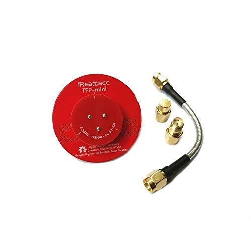 HELEISH Realacc TFP-Mini Triple Patch Dia RSS.45mm 5.8g 8dBi FPV plat pagode antenne avec Terminator Pièces d'assemblage de bricolage (Color : Black)