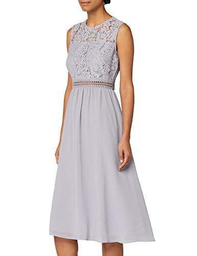 Amazon-Marke: TRUTH & Fable Damen brautkleid, Grau (Grey), 36, Label:S
