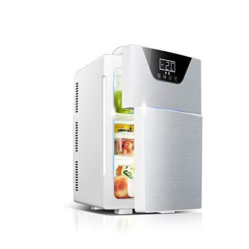 DALIBAI Mini-Nevera, Coche de refrigerador portátil Compacto con Pantalla de Temperatura for el Coche/Barco/piloto automático/Camping/Outdoor (Color : Silver)