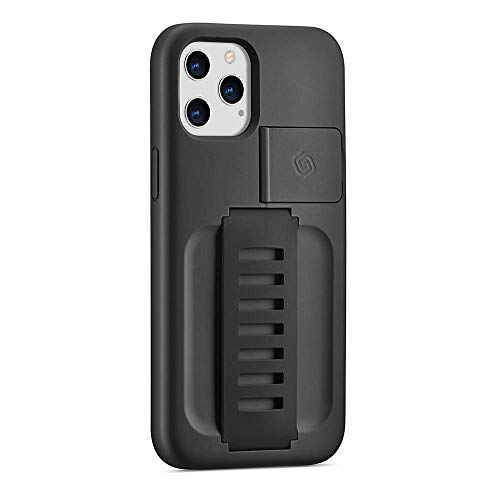 Grip2ü for iPhone 12 Pro Max Boost Charcoal Protective Grip Phone Case with Kickstand, for iPhone 12 Case, Cell Phone Basic Cases for iPhone 12 Pro Max