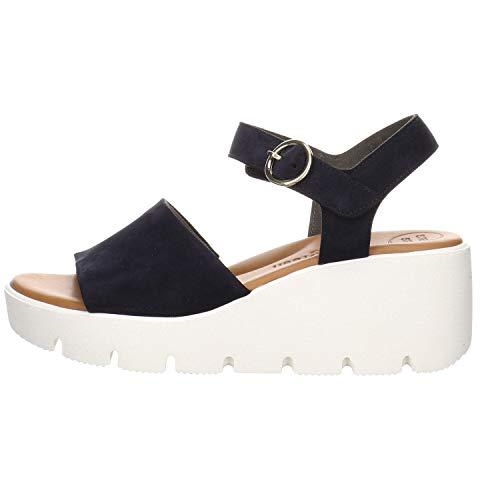 Paul Green Damen Sandalen Sandalette blau Gr. 37