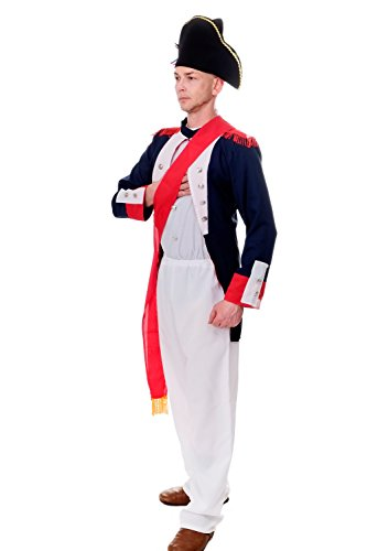 dressmeup Dress ME UP - Disfraz de Carnaval para Hombre Napolen Bonaparte Oficial la Revolucin Francesa L206