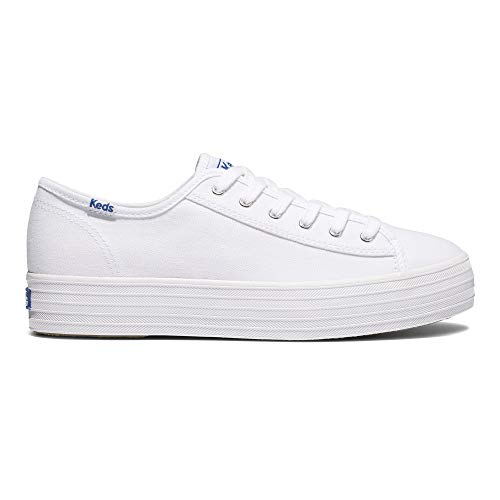 Keds Triple Kick ORG Core Canvas, Zapatillas Mujer, White, 35.5 EU