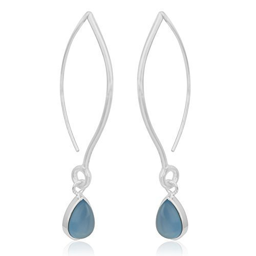 925 sterling silver blue Ranking TOP18 chalcedony jewe drop for women Ranking TOP19 earrings