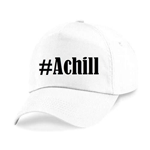 Reifen-Markt Base Cap Hashtag #Achill Größe Uni Farbe Weiss Druck Schwarz