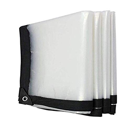LLCXL Transparant dekzeil waterdicht, transparante zeilen avec Oeillet MéTallique roosterafdekking twee-draad-design sterk en duurzaam scheurvastheid, transparant 3 x 9 m / 9 x 27 ft