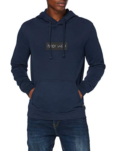 Teddy Smith 10814448D Sweatshirt, Total Navy, Large Homme