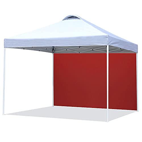 Gazebo da giardino pieghevole, 3 m x 2 m, gazebo da giardino, tenda impermeabile in tessuto Oxford 210D, per giardino, esterno, festa, colore: rosso, computer, tenda a unilaterale