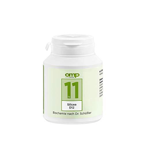 Schüssler Salz Nr. 11 - Silicea D12 | 400 Tabletten | Das Salz der Haare, der Haut und des Bindegewebes | glutenfrei